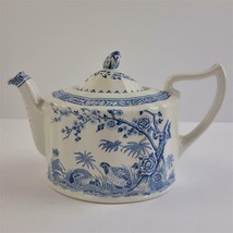 Vintage Quail Blue by Mason's Ironstone England Teapot with Lid - $193.49