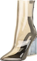 Cambridge Select Women's Pointed Toe Clear See-Through Transparent Chunk... - $40.23