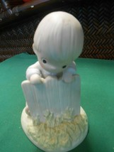 "PRECIOUS MOMENTS Figure- ""It May Be Greener But It's Just as""...FREE POS... - $15.43"