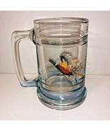 Beer Mug Princess House Glass Colonial Pheasant 15 oz Bar Man Cave Set of Two  - $19.79