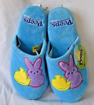Peeps Blue Womens Slippers Plush Bunny Chick Easter 5/6 7/8 9/10 Just Bo... - £12.52 GBP