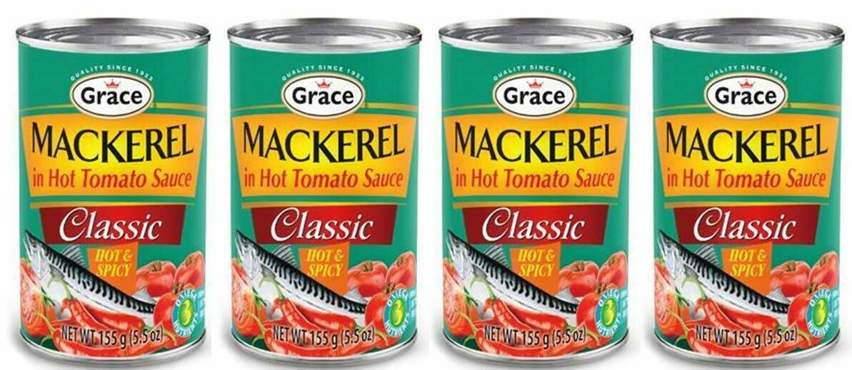 MACKEREL IN HOT TOMATO SAUCE - HOT AND SPICY (4 CANS) - $19.80