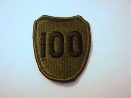 Army 100th Training Division Patch SUBDUED/OD COLOR:K9 - $1.85
