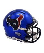 Houston Texans Helmet Riddell Replica Mini Speed Style Chrome Alternate*... - $29.99