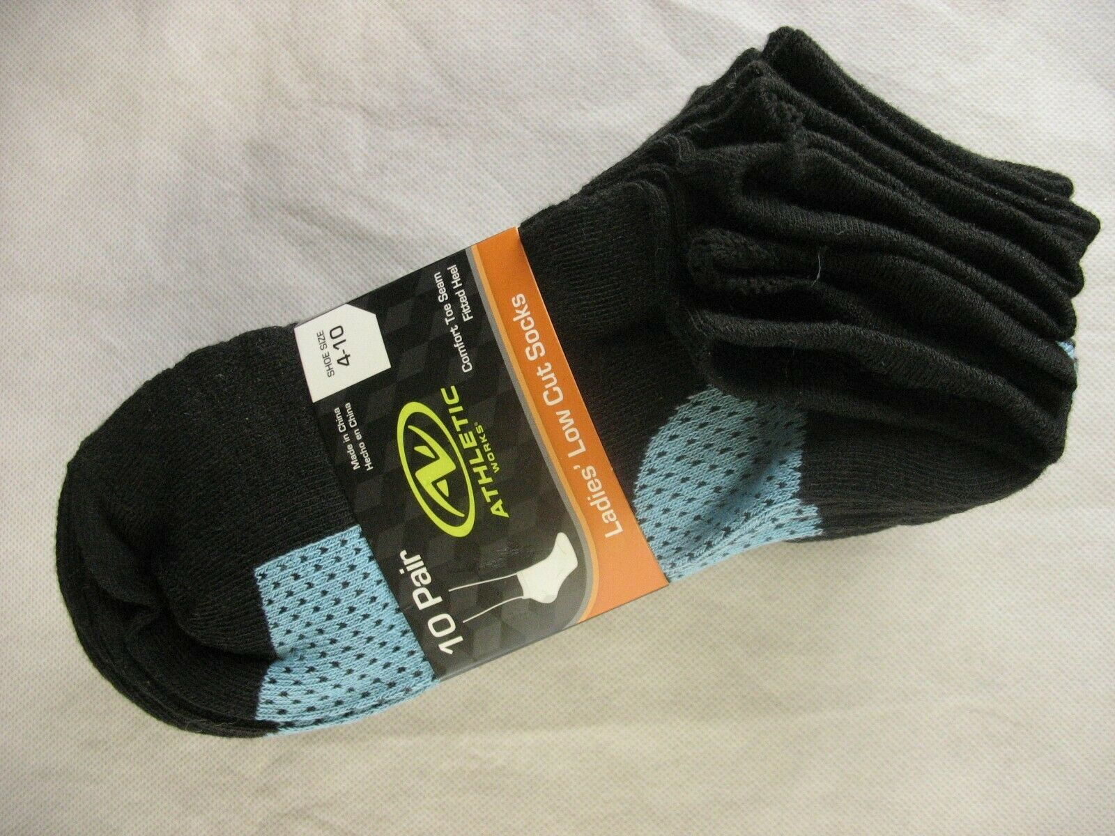 Athletic Works Women's Light No Show Socks 10 Pairs Shoe Sizes 4-10 polka dot