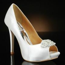 Badgley Mischka Goodie Women's Bridal Shoes Platform Heels Pumps 7.5 Whi... - $67.71