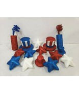 (15) Patriotic 4th of July Glitter Stars Firecracker Bowl Scatter filler... - $16.99