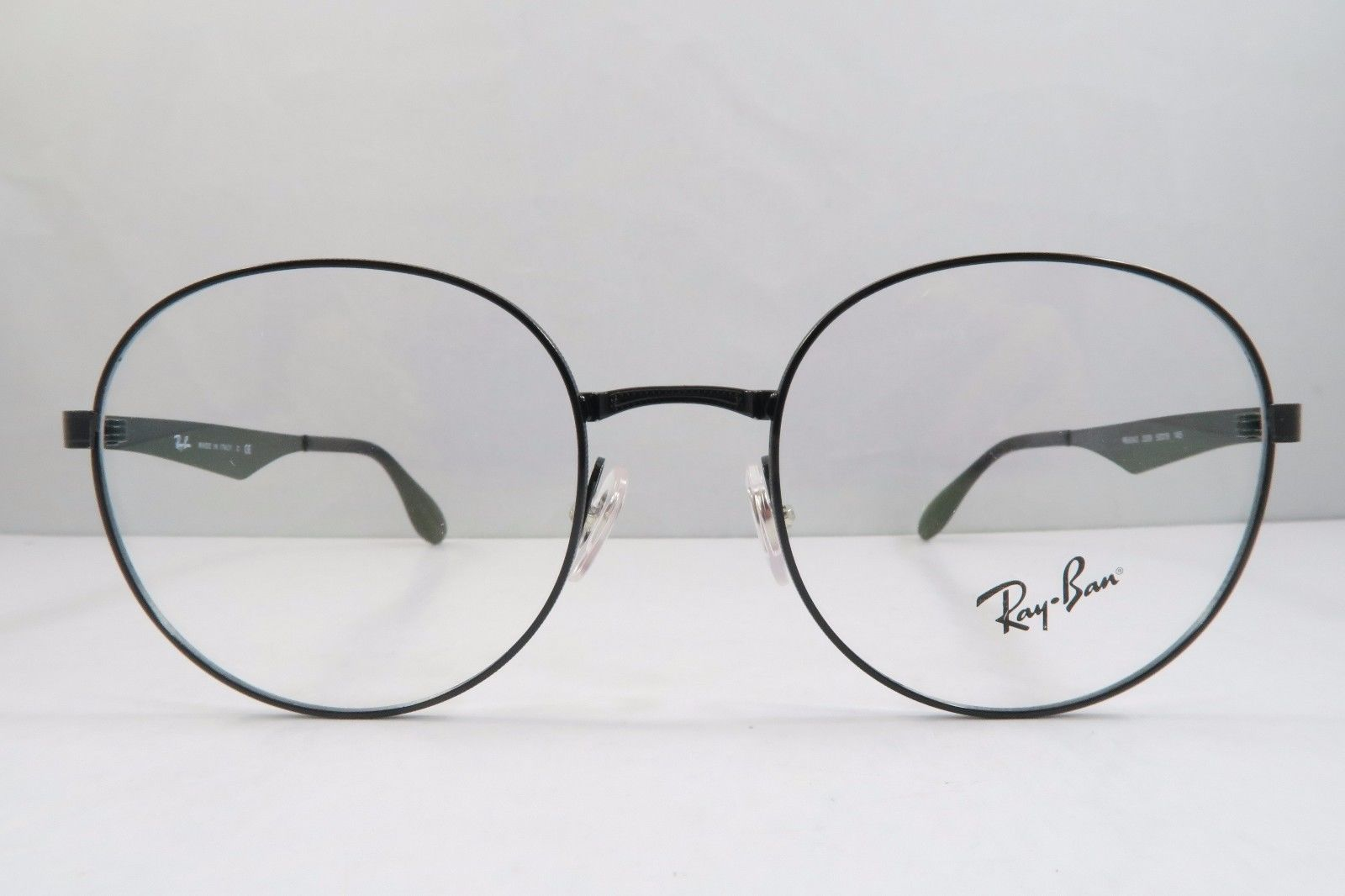 9897b56d45 S l1600. S l1600. Previous. Ray-Ban RB 6343 2509 Round Shiny Black New  Authentic Eyeglasses 47mm ...