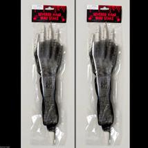2-Pcs Skeleton Arm Body Parts BLOODY HORROR HAND LAWN STAKES SET Prop De... - $3.69