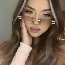 2021 Luxury Diamond Rimless Frame Fashion Eyewear Glasses image 2