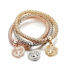 "Crystal ""TREE OF LIFE"" Heart edition Charm Bracelets For Women Bangles J... - $5.93"