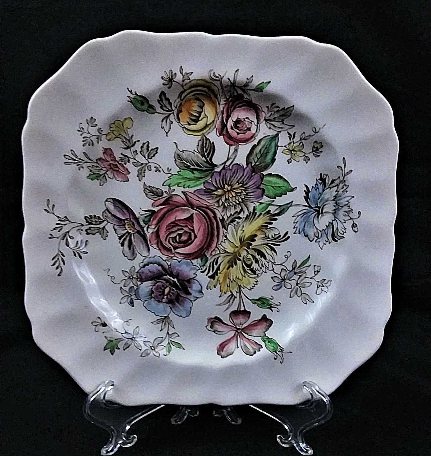 VTG COLLECTIBLE JOHNSON BROTHERS SHERATON SQUARE SALAD PLATE MADE IN ENGLAND