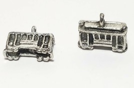 CABLE TROLLEY CAR FINE PEWTER PENDANT CHARM