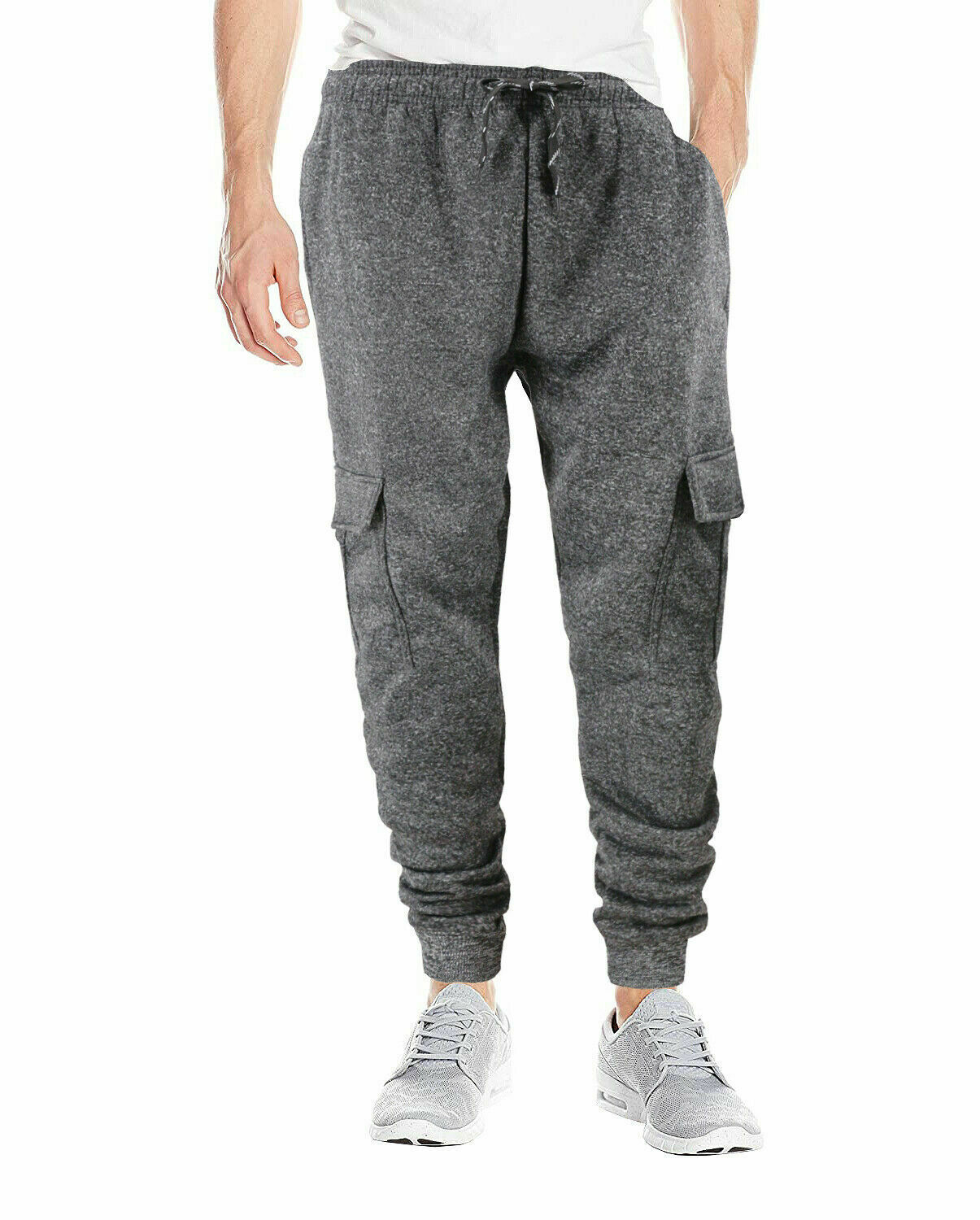 Men's Casual Jogger Pants Slim Fit Sport Workout Sweatpants w/ Defect - XL