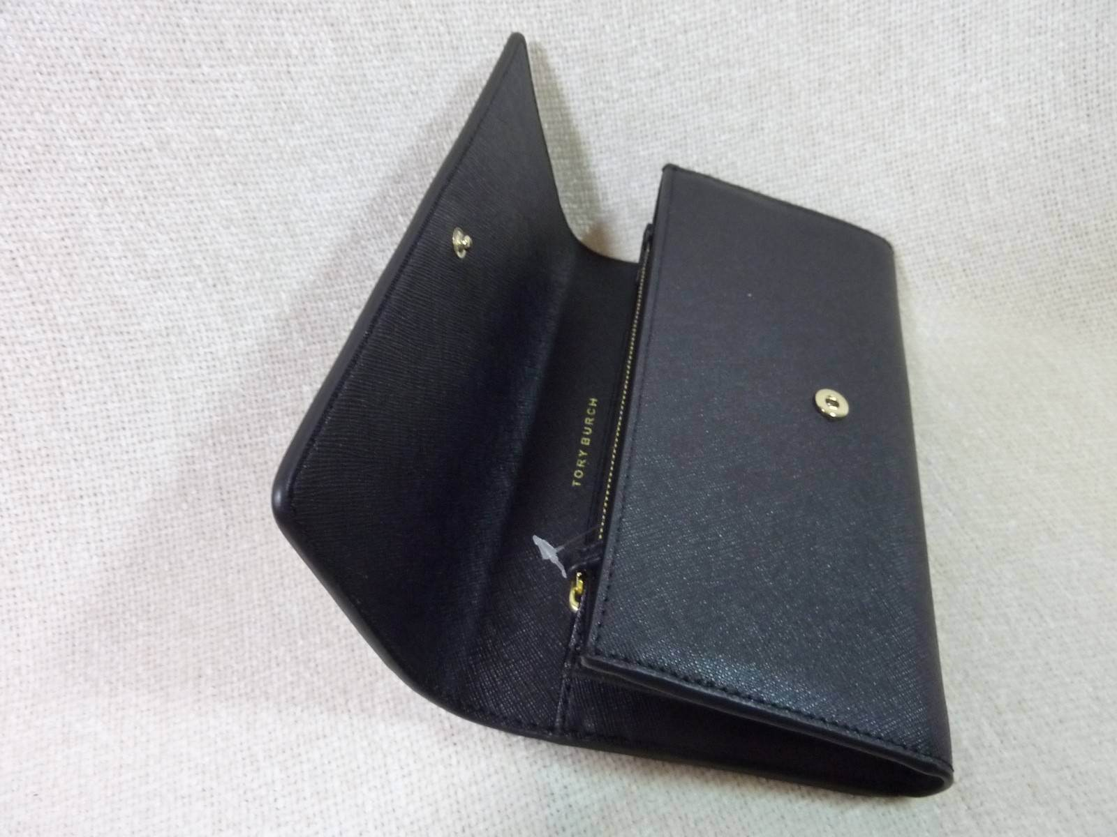 NWT Tory Burch Classic Black Saffiano Robinson Middy Satchel + Wallet $800 image 11