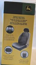 John Deere LP49603 Polyvinyl Black Sideless Seat Cover With Head Rest Cover image 11