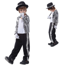 Kid Michael Jackson Thriller Fancy Cosplay Costume Halloween Partywear - $29.31