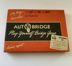 Vintage Auto Bridge Auto Play-Yourself Bridge Game PGB Beginners Set in Box! - $14.80