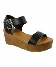 TOP MODA, Black Cobble Sandal, Sz 8 - $20.79