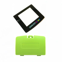 New KIWI GREEN Game Boy Color Battery Cover + New GLASS Screen Lens GBC - $9.35