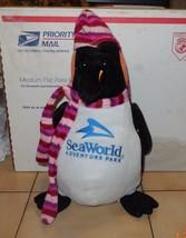 "Vintage 2005 Toy Factory SEA WORLD Plush 14"" Penguin Scarf Nightcap - $17.54"