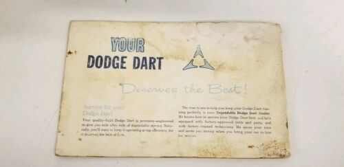 1963 Dodge Dart Owners Manual And Owners Service Certificate Book image 11