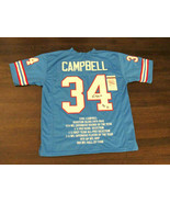 EARL CAMPBELL HOF 91 HOUSTON OILERS 1979 NFL MVP SIGNED AUTO STAT JERSEY... - $197.99