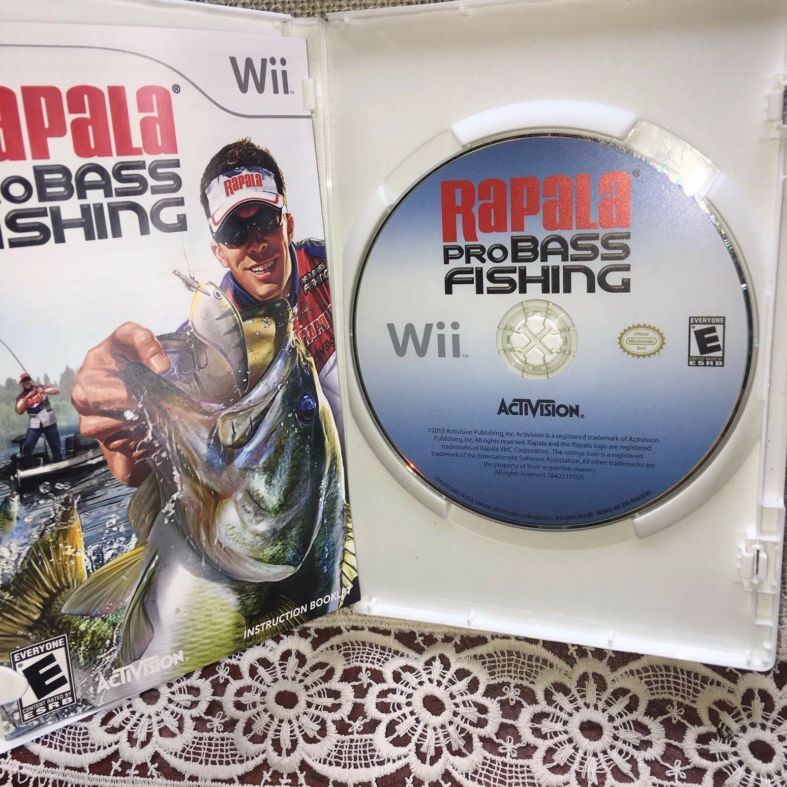 Video Game - Nintendo Wii - RAPALA PRO BASS FISHING FAST FREE SHIPPING=