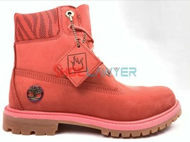 "Timberland Women 6""Inch LIMITED EDITION Dark Pink Waterproof Double Boot... - $94.39"