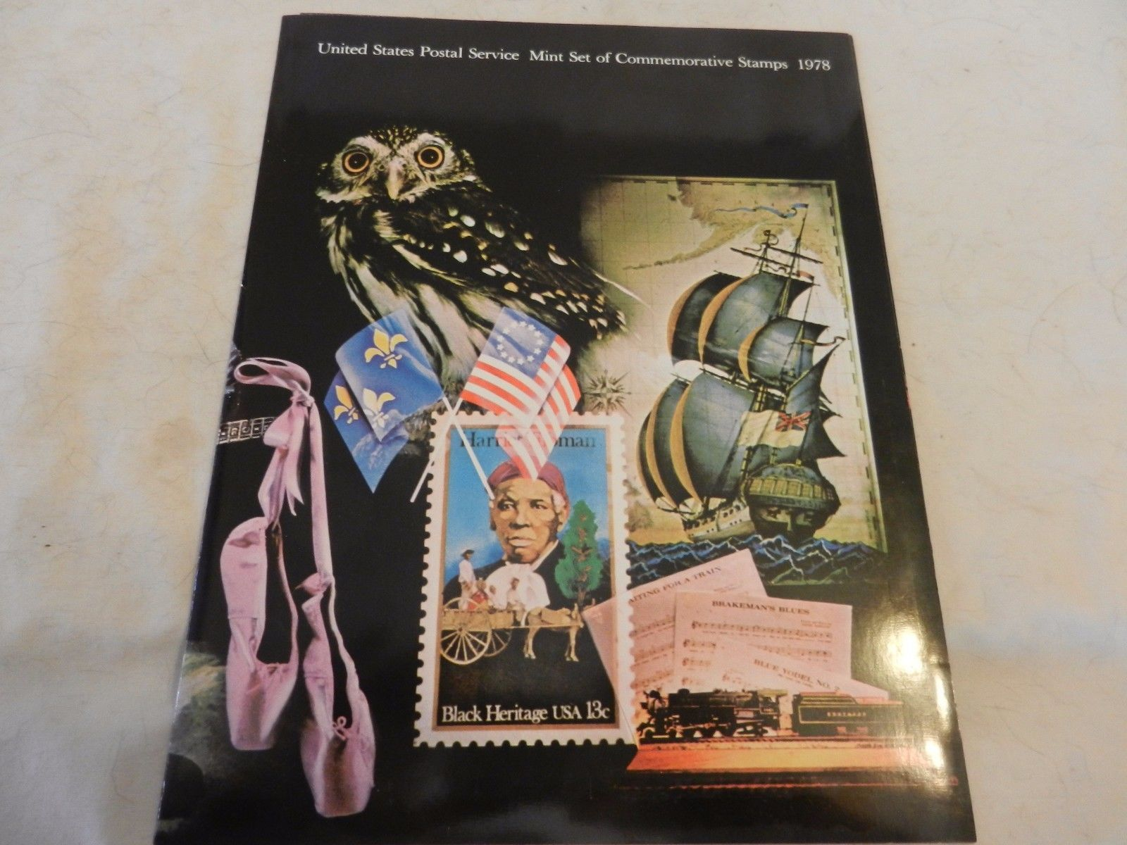 1978 USPS Mint Set of Commemorative Stamps Book Only no stamps