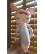 """Metoo Angela Bunny Stuffed Super Soft 17"""" Velvety Doll w stain on right ... - $18.50"""