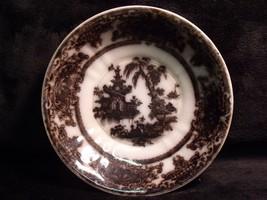 "Antique Black Mulberry Staffordshire Transferware ""Corean"" 6"" Bowl - $39.60"