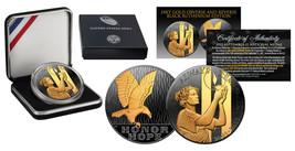 2011 SEPTEMBER 11 NATIONAL MEDAL 1oz Silver Proof Coin RUTHENIUM Golden ... - $65.41