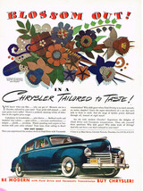 Vintage 1941 Magazine Ad Chrysler Blossom Out In A Chrysler Tailored To ... - $5.93