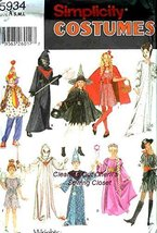 5934 Pirate Costume Pattern Reaper Fairy Riding Child SIMPLICITY SEWING ... - $15.19