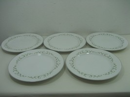 "Sheffield Elegance Set - Five (5) 10.25"" Dinner Plates Silver Trim Flora... - $19.75"