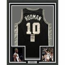FRAMED Autographed/Signed DENNIS RODMAN 33x42 San Antonio Black Jersey J... - $399.99