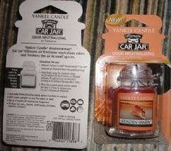 4 new yankee candle ultimate car jar air freshener golden sands - $13.00