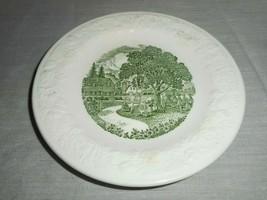 Homer Laughlin Pastoral Vintage Plates Green Farm Scene Saucer Only Offered  - $17.81