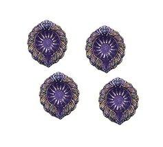 4 x DIY purple leaf festival lights traditional Diwali occasion diya OIL... - $17.82