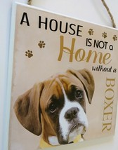 DOG LOVER PLAQUE a House is not a Home Without a Boxer 8x8 Wooden Pet Wall Art image 3