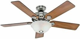 "Hunter 53249 52"" Brushed Nickel/Chestnut Rosewood Ceiling Fan - $118.79"