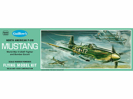 Fun Model Airplane Kit, Guillow's WWII North American P-51D Mustang  GUI... - $26.19