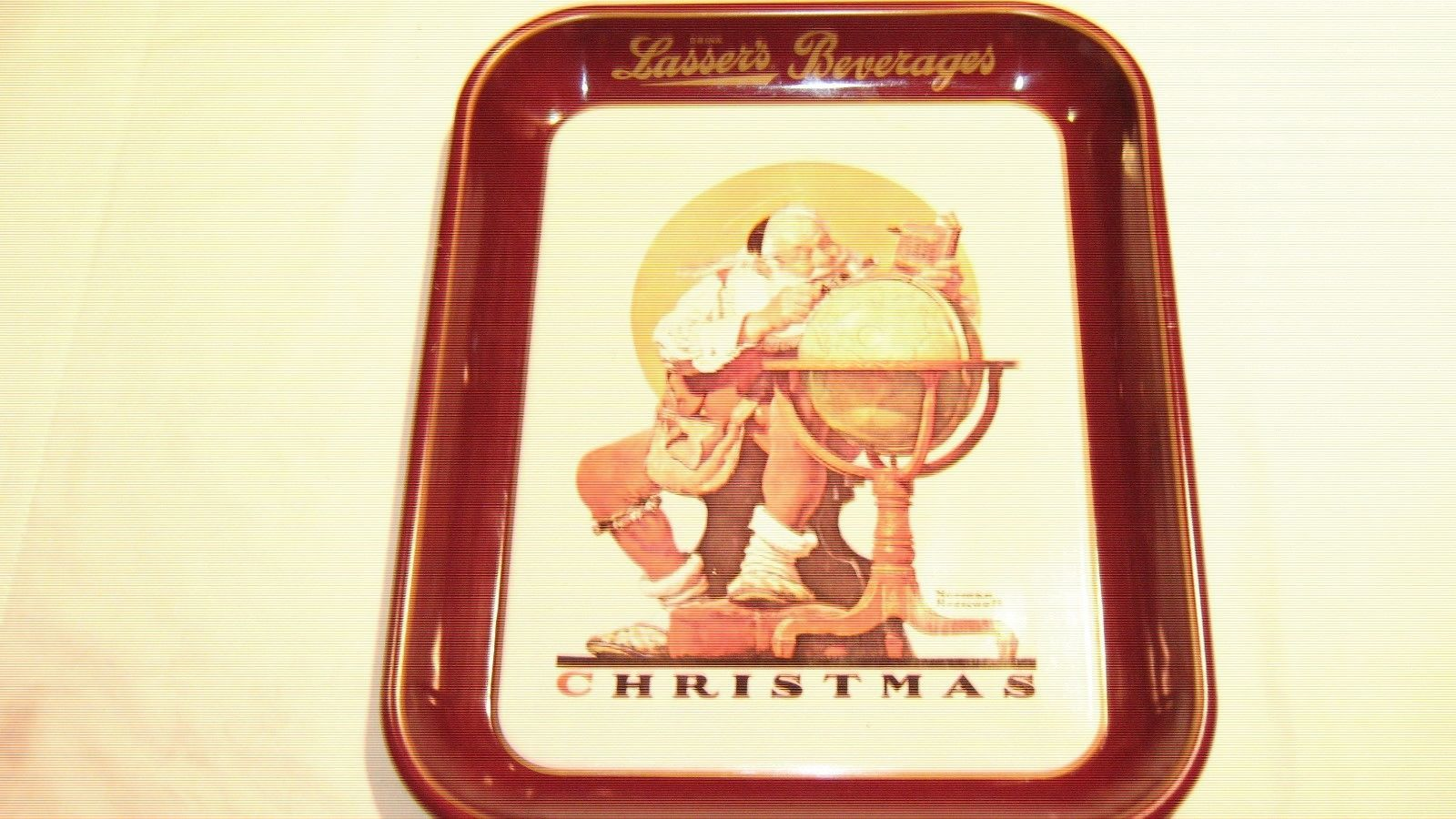 Primary image for Norman Rockwell Limited Edition 1976 Christmas Tray