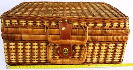Wicker Picnic Basket for 4 (Plates, Cups, Utensils) - $46.39