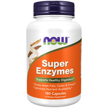Now Super Enzymes - 180 Capsules Made in USA - $54.86
