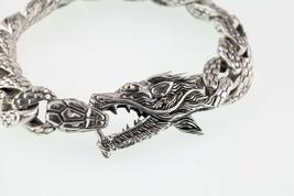 Milo Argent Sterling Et 18k or Jaune Texturé Dragon Bracelet - $178.20