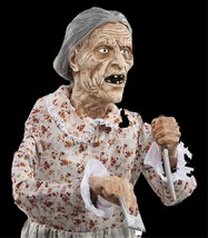 Life Size Standing Granny PSYCHO MOTHER BATES MOTEL Haunted House Horror... - $108.87
