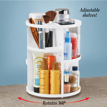360 Rotating Cosmetic Organizer with Adjustable Layers  Countertop Storage - $26.16