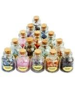 SUNYIK 9 Mini Gemstone Bottles Chip Crystal Healing Tumbled Gem Reiki W... - $30.40